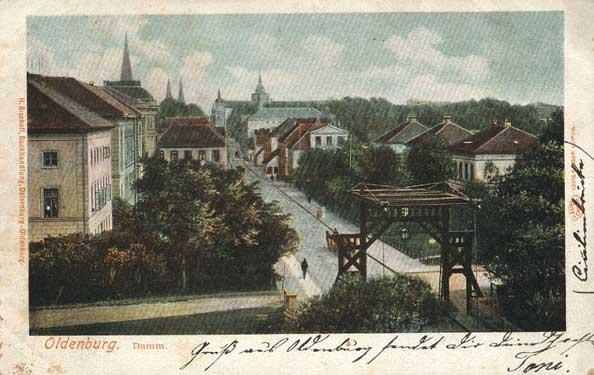 Die Bedeutung der Cäcilienbrücke ist auch daran abzulesen, dass Postkarten verschickt wurden.