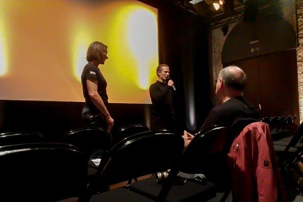 Nach dem Film Dixieland stand Regisseur Hank Bedford dem begeisterten Publikum Rede und Antwort.