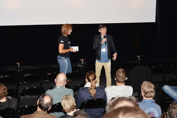 Das besondere am Filmfest ist unter anderem, dass Regisseure, Schauspieler oder Produzenten nach dem Screening für Fragen zur Verfügung stehen. Hier bei The Strongest Man freute sich Filmemacher Kenny Riches über ein interessantes Gespräch.