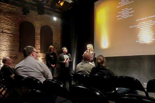 Zur Weltpremiere ihres Filmes H8RZ in der Exerzierhalle gaben sich Produzent Scott Lochmus und Hauptdarstellerin Eliza Bennett (Tintenherz) die Ehre.