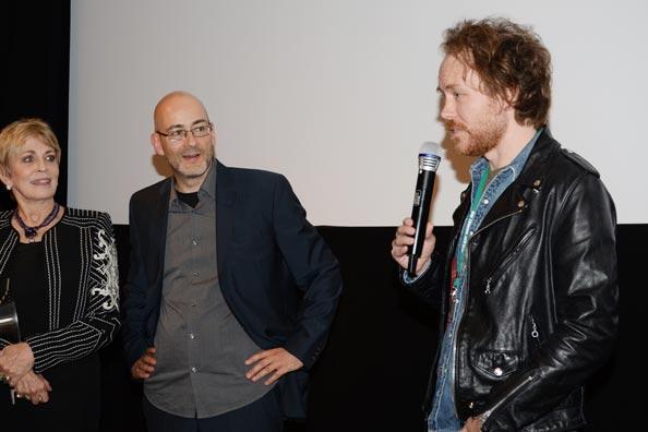 Joanna Cassidy, Torsten Neumann und Too Late-Regisseur Dennis Hauck.
