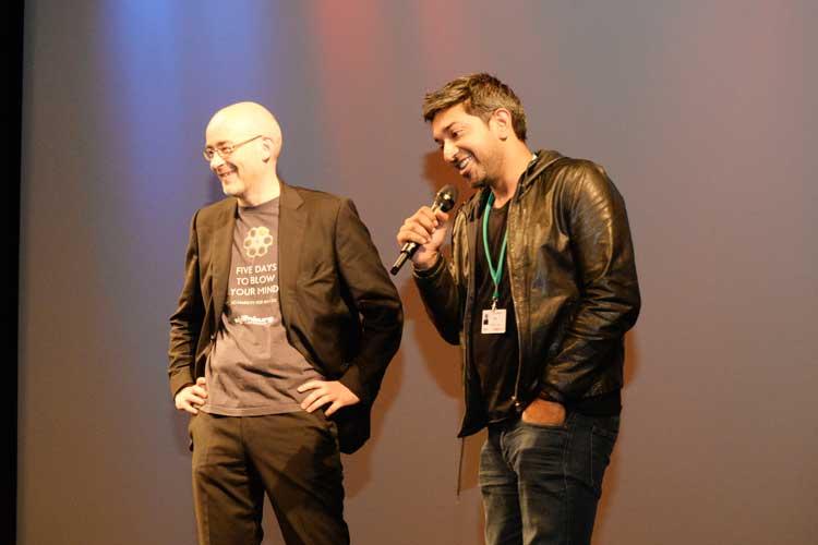 Torsten Neumann und Prashant Nairs.