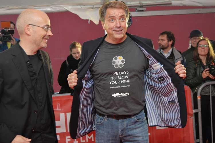 Festivalleiter Torsten Neumann und Oberbürgermeister Jürgen Krogmann bei der Eröffnungsgala des 22. Internationalen Filmfest Oldenburg.