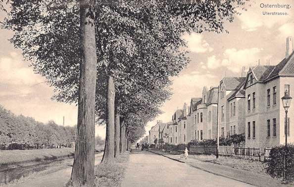 Die Uferstraße im Jahre 1918.