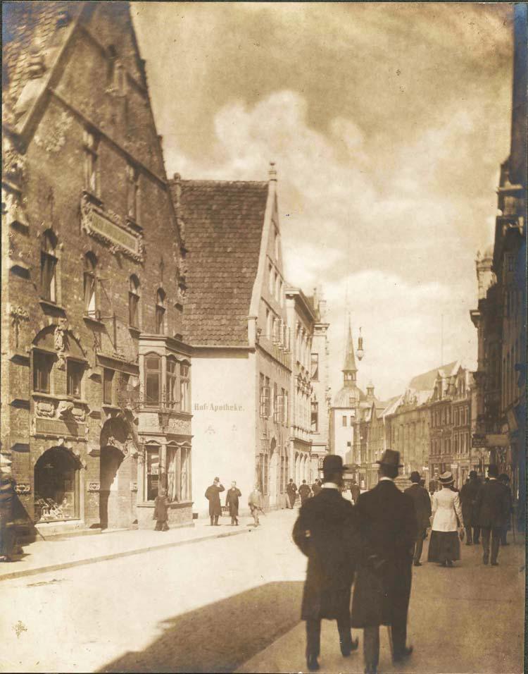 Die Langestraße in der Oldenburger Innenstadt um 1900.