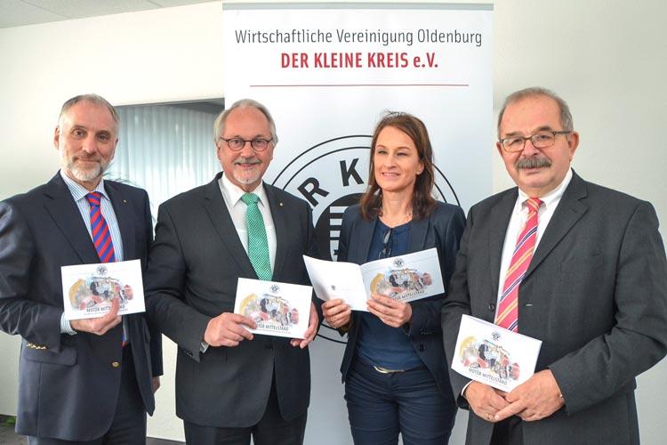 Stellten die Broschüre Motor Mittelstand vor: Jürgen Lehmann, Heinz-W. Appelhoff, Claudia Derks und Hans Kaminski.