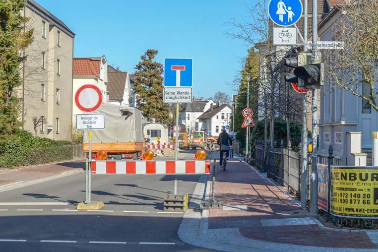 Die Sperrung der Auguststraße in Oldenburg wird am kommenden Freitag aufgehoben. Weitere Baumaßnahmen erfolgen im kommenden Jahr.