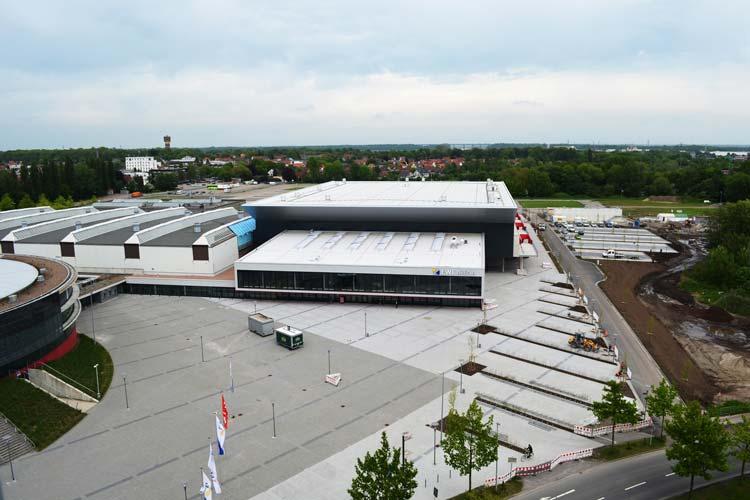 Die große EWE-Arena in Oldenburg wird Austragungsort für die Frauenhandball-Weltmeisterschaft 2017.