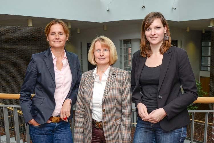 Ettje Lundquist, Heike Loers und Wiebke Oncken wollen Müttern Mut machen und fordern mehr Familienfreundlichkeit in Unternehmen.
