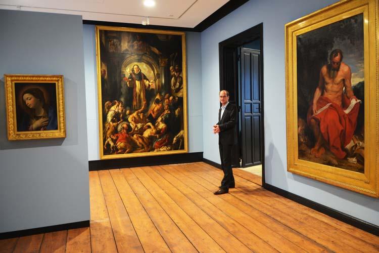 Das Augusteum mit seinen neuen Sichtachsen und den farblich unterschiedlichen Räumen präsentiert die Sammlung Alte Meister zur Freude von Rainer Stamm auf ganz neue Weise.