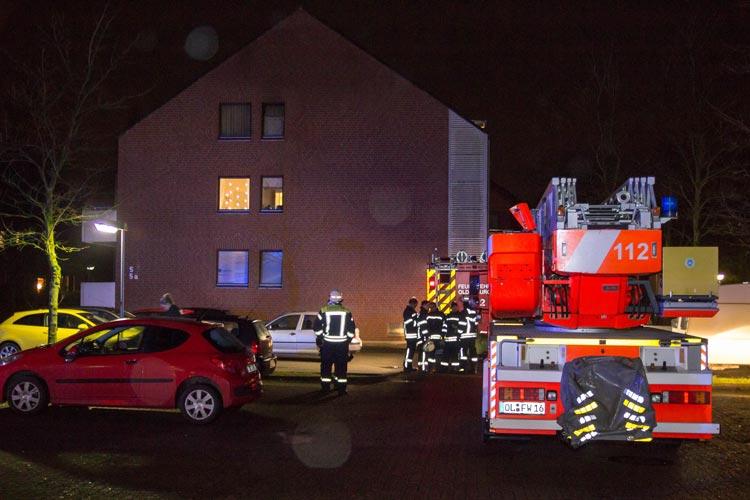Nach einem Brand eines Mehrfamilienhause in Oldenburg-Wechloy ermittelt die Polizei jetzt wegen Brandstiftung.