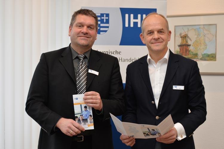 Peter Wellmann und Dr. Joachim Peters stellten das Programm für Wirtschaft konkret vor.