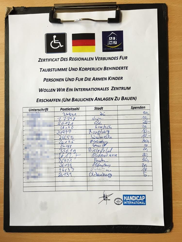 Die Polizei warnt vor betrügerischen Spendensammlern in der Oldenburger Innenstadt. Hilfsbereite Menschen werden schamlos ausgenutzt.