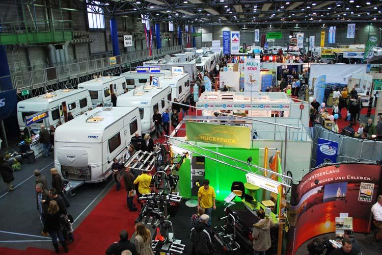 22.000 Besucher werden zur Messe Caravan Freizeit Reisen in den Oldenburger Weser-Ems Hallen erwartet.