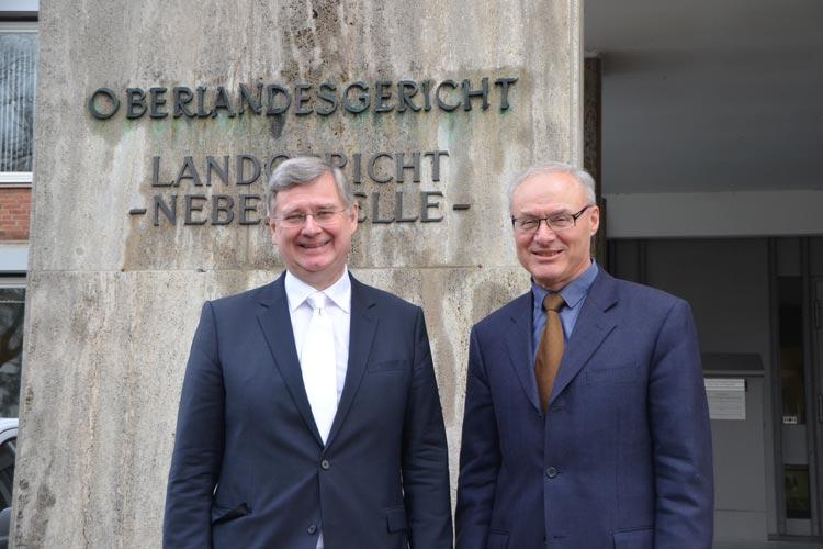 Dr. Michael Kodde und Dr. Gerhard Kircher vom Oberlandesgericht Oldenburg.