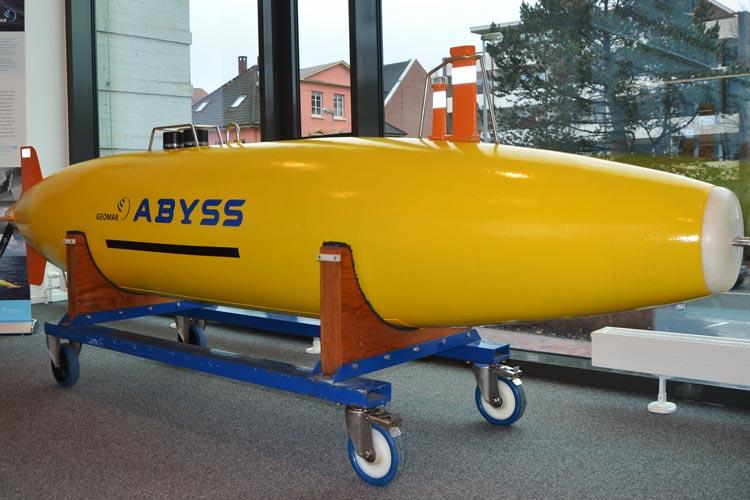 Abyss ist ein autonomes Tauchboot und in der Ausstellung zu sehen.