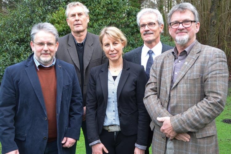Der neue Beirat des Verbandes anerkannter Umweltbildungseinrichtungen Niedersachsen: Prof. Dr. Michael Komorek, Prof. Dr. Markus Quante, Prof. Dr. Yvette Voelschow, Harald Lesch und Dr. Jens Reißmann.