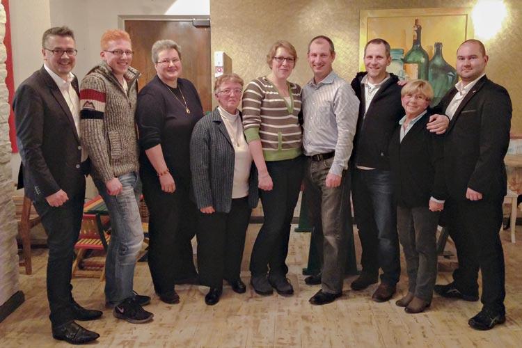 Christoph Baak, Michael Schilling, Maike Würdemann, Ute Puls, Meike Beneke, Marcel Zanner, Thilo Hanken, Hildegard Sczesny und Dennis Deitermann wurden für die Kommunalwahl 2016 nominiert.
