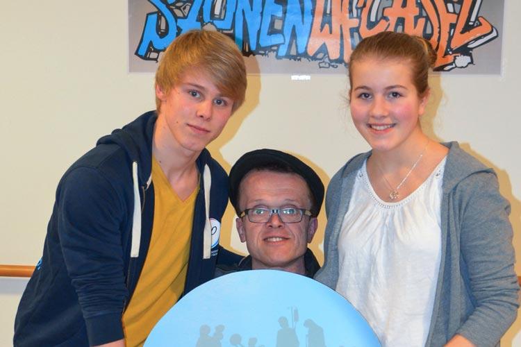 Ole Hollmann, Manni Laudenbach und Jana Sudendorf werben für den Szenenwechsel 2016.