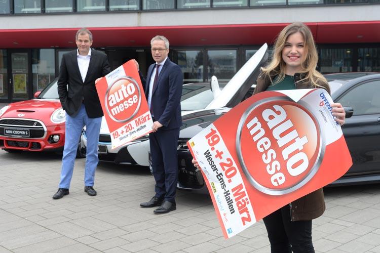 Für Janina Zeigner, Tim Stelter und Clemens Meistermann laufen die Vorbereitungen der Automesse Oldenburg auf Hochtouren.
