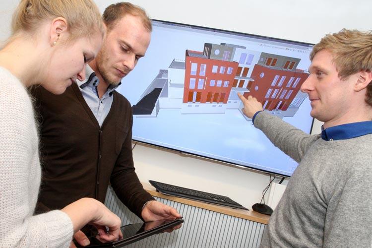 Die angehenden Ingenieure an der Jade Hochschule werden mit der Methode des Building Information Modeling (BIM) vertraut gemacht