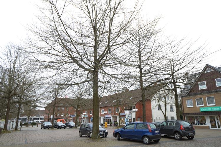 Die meisten Parkplätze des Klingenbergplatzes würden nach den ursprünglichen Plänen wegfallen.