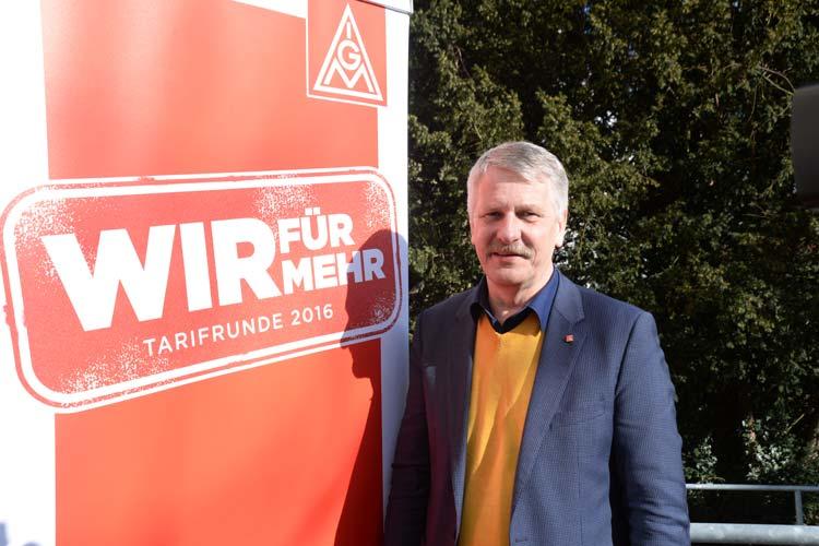 IG Metall-Bezirksleiter Meinhard Geiken wird am Donnerstag die Verhandlungen für die Gewerkschaft in Oldenburg führen.
