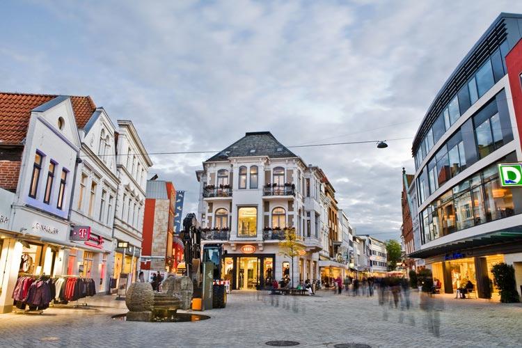Oldenburg ist bei seinen Gästen vor allem auch als Einkaufsstadt äußerst beliebt.