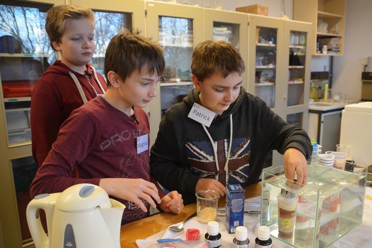Riekert, Magnus und Patrick hatten viel Spaß und so manche Erkenntnis im Schülerlabor physiXS der Universität Oldenburg.