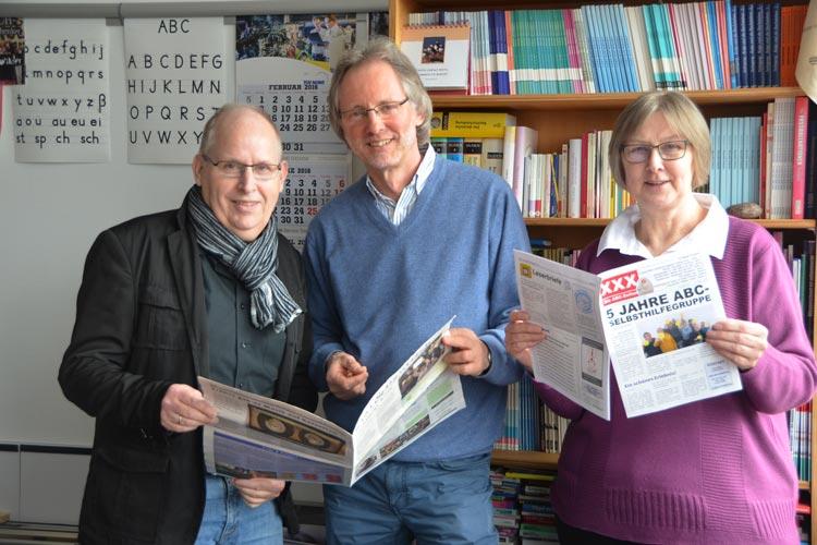 Fünf Jahre besteht die ABC-Selbsthilfegruppe in der Volkshochschule Oldenburg, und das ist für ihre Gründer Ernst Lorenzen, Achim Scholz und Brigitte van der Velde etwas Besonderes.