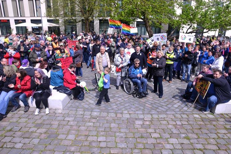 Auch im vergangenen Jahr fand im Rahmen der Inklusionswoche eine Demonstration statt. In diesem Jahr fordern die Teilnehmer ein barrierefreies Oldenburg.