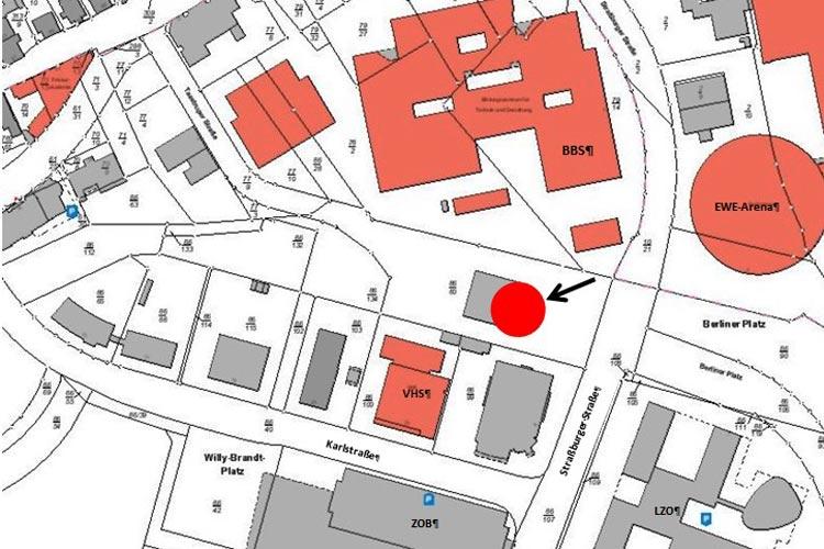 Die neuen Jugendherberge liegt in unmittelbarer Nähe im VHS-Gebäude, der Oldenburger Hauptbahnhof und die Weser-Ems Hallen befinden sich in direkter Nachbarschaft.