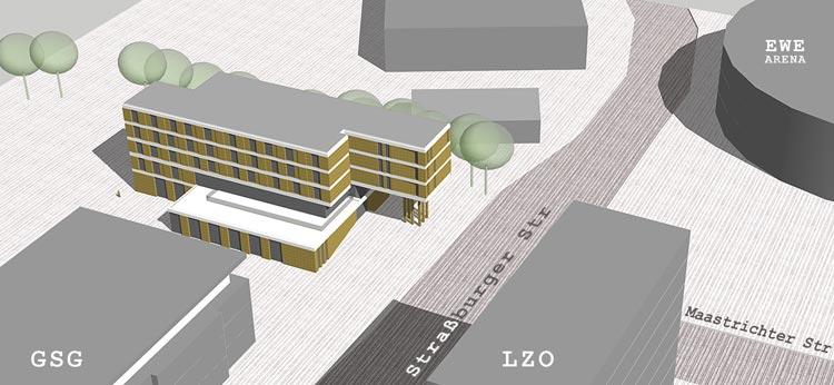 Über die Außengestaltung der neuen Jugendherberge ist noch nicht das letzte Wort gesprochen.