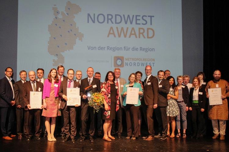 Gestern wurde der NordWest Award an hervorragende Projekte verliehen.