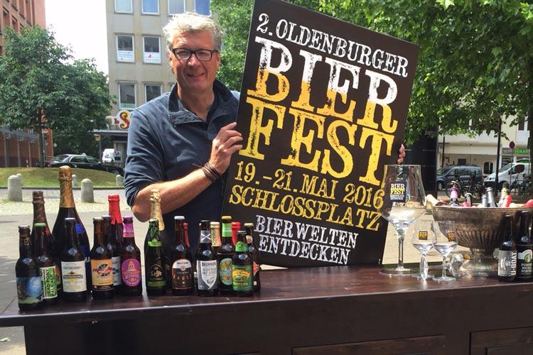 Michael Solms aus Hannover kommt mit dem 2. Bierfest nach Oldenburg.