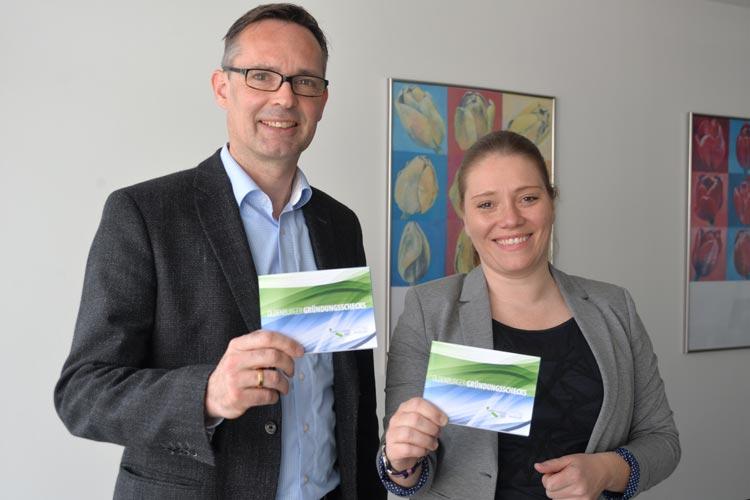 Jürgen Bath und Miriam Wiediger freuen sich, dass sie nach der guten Resonanz des Vorjahres nun eine zweite Auflage der Oldenburger Gründungsschecks präsentieren können.