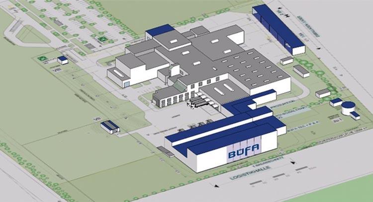 Der BÜFA Standort Rastede soll um die blauen Gebäudeteile ergänzt werden.