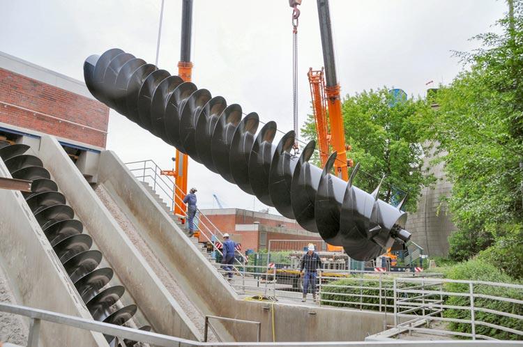Die neuen Schneckenpumpen sind am Mittwoch und Donnerstag, 8. und 9. Juni, eingebaut worden.