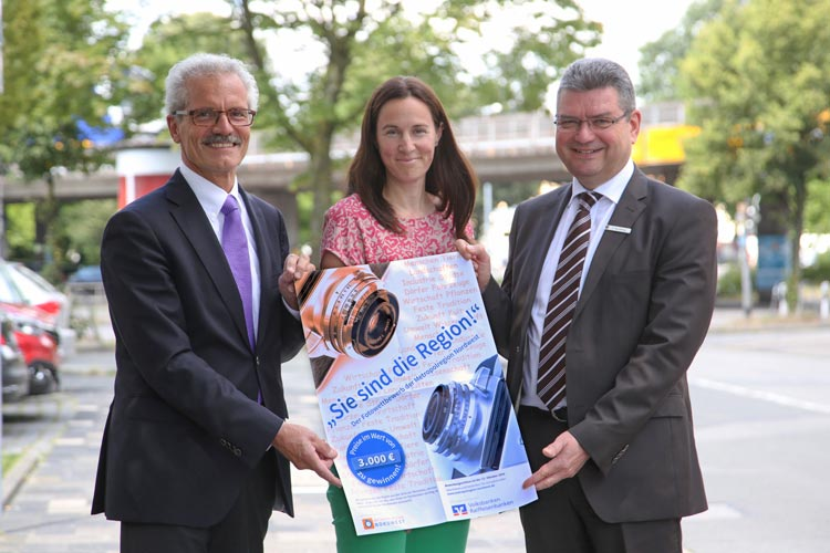 Harald Lesch, Anna Meincke und Jörg Bensberg rufen zum Fotowettbewerb der Metropolregion Nordwest auf.