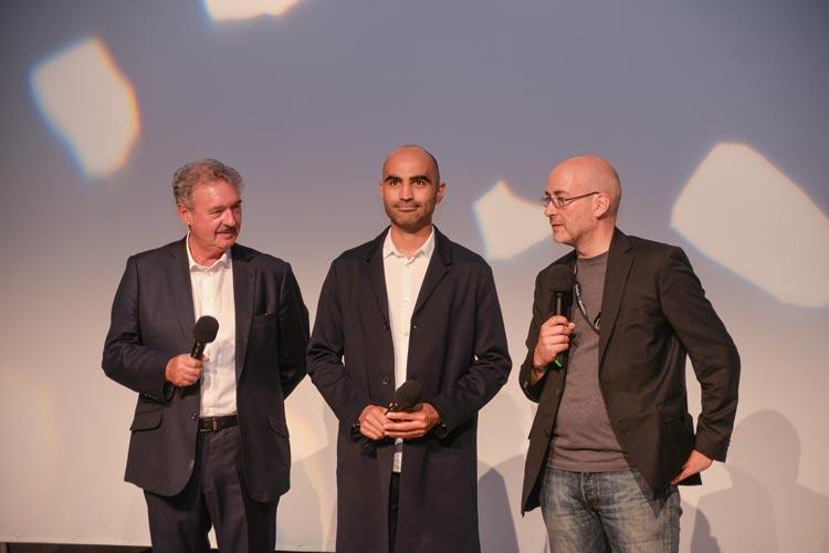 Jean Asselborn, Pasha Rafiy und Torsten Neumann haben in Oldenburg den Film Foreign Affairs vorgestellt.