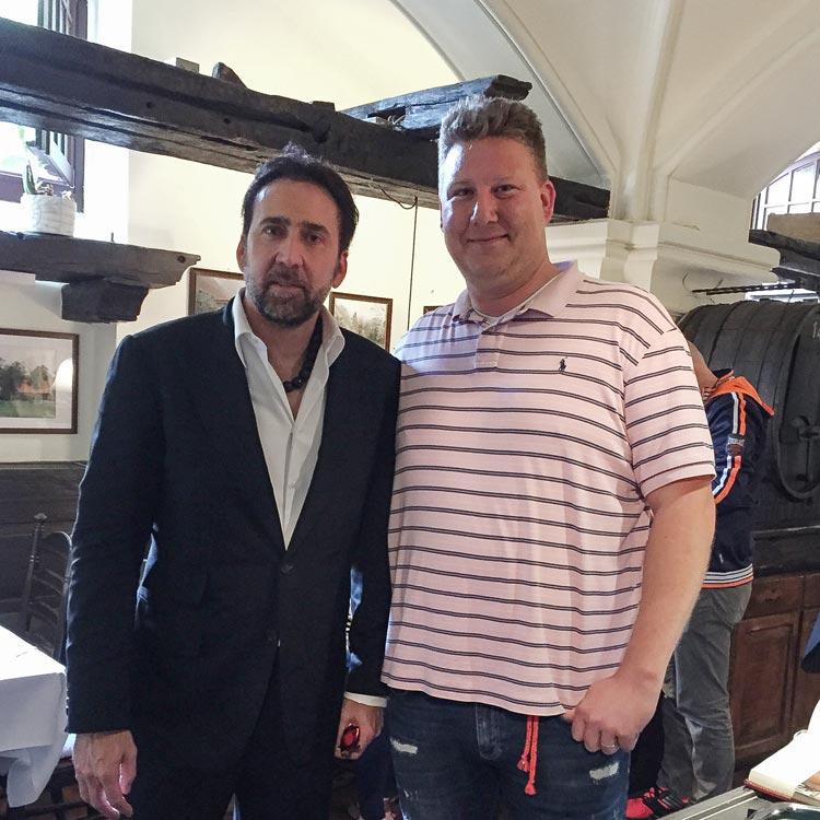 Mittagessen gab es heute im Oldenburger Ratskeller: Nicolas Cage und Sebastion Fey.