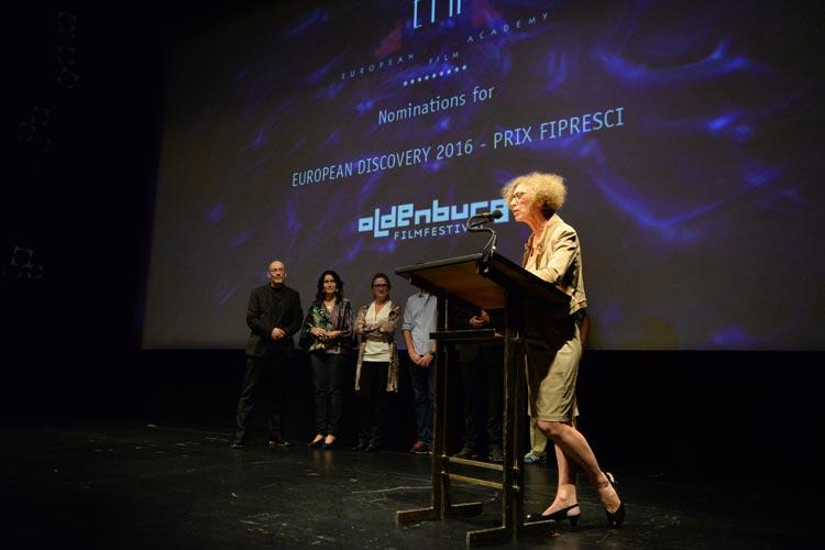 Wie im letzten Jahr wurde auch in diesem Jahr Oldenburg wieder zur Bühne für die Bekanntgabe der PRIX FIPRESCI Nominierungen für den besten Nachwuchsfilm beim Europäischen Filmpreis nach der Jury-Sitzung unter Vorsitz von Dagmar Jacobsen.