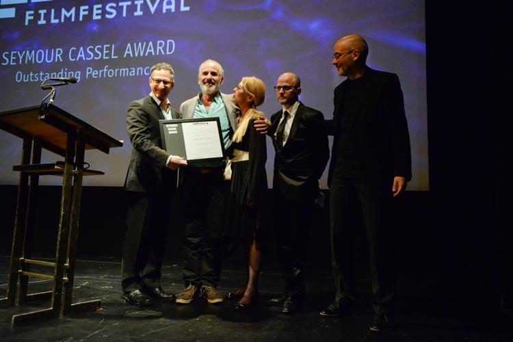 Eine lobende Erwähnung für das Schauspieler-Ensemble des israelischen Films One Week and a Day nahm Hauptdarsteller Shai Avivi entgegen.