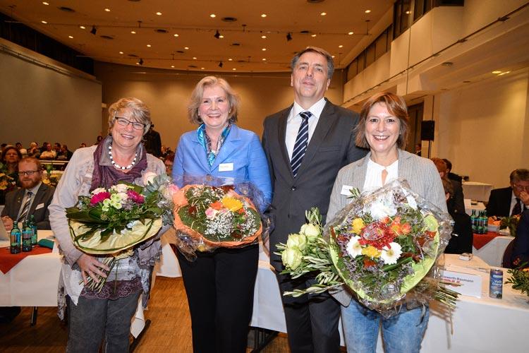 Germaid Eilers-Dörfler, Petra Averbeck und Christine Wolf werden zukünftig Oldenburgs Oberbürgermeister Jürgen Krogmann bei repräsentativen Aufgaben vertreten.