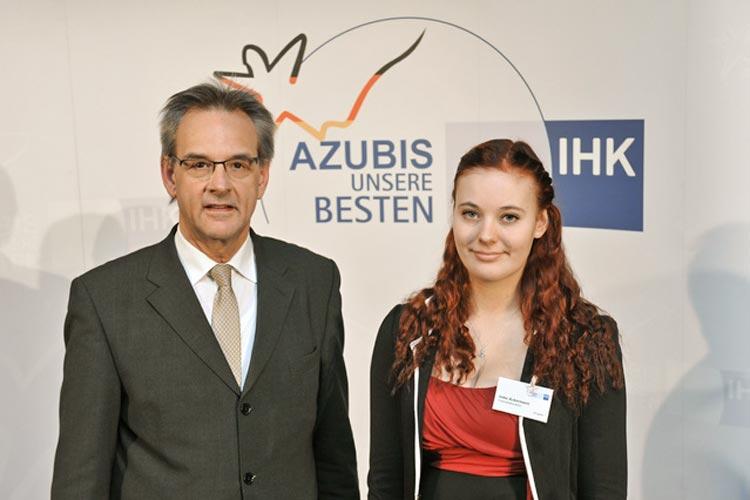 Imke Ackermann wurde als Deutschlands beste Chemielaborantin ausgezeichnet.