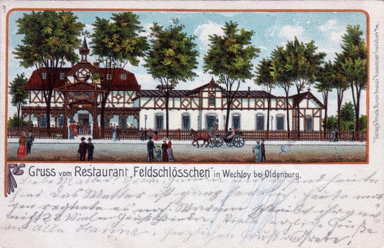 Das Feldschlösschen an der Ammerländer Heerstraße, 1903 aufgenommen, fiel vor ein paar Jahren einem Feuer zum Opfer.
