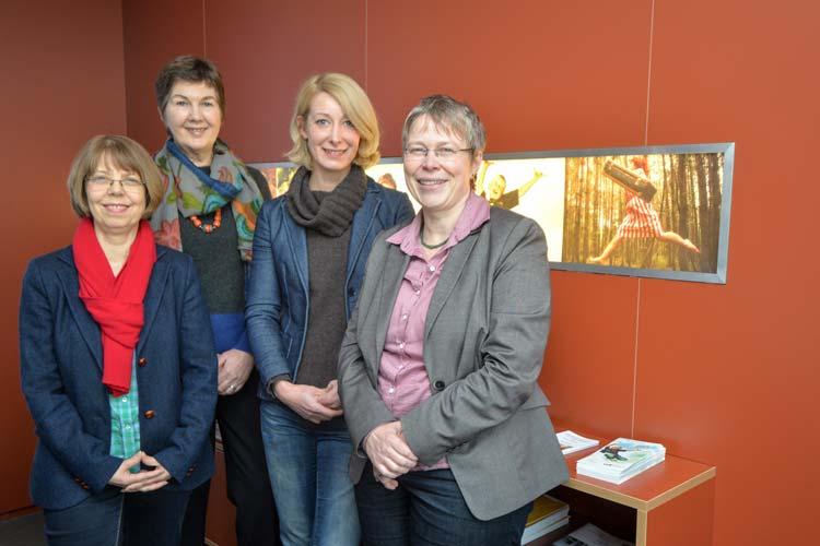 Karin Kleinefeld, Barbara Heinzerling, Friederike Oltmer und Susanne Jungkunz laden dazu ein, für sich für das eigene Wohnquartier zu engagieren.