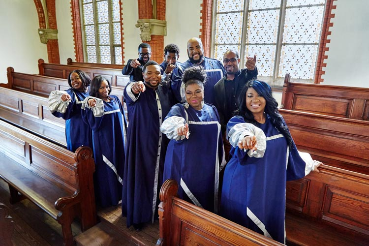 Die New York Gospel Stars treten in der St. Johanneskirche in Oldenburg auf.