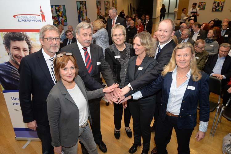 Bürger setzen sich für Bürger ein, das war die Idee von Marius Eriksen, Rudoph Finger und des ehemaligen Kulturdezernenten Martin Schumacher, als sie 2006 die Oldenburger Bürgerstiftung gründeten.