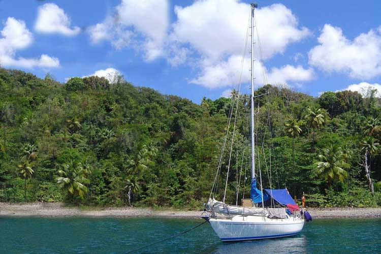 Mit der neun Meter langen Segeljacht Balu sind Iko Andrae und Maret Nacken zweimal über den Atlantik gesegelt.